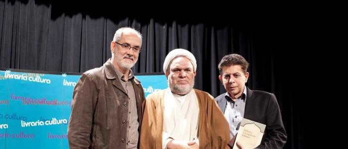 Alexandre Caldini, Sheikh Taleb Hussein al-Khazraji e Heródoto Barbeiro na Livraria Cultura